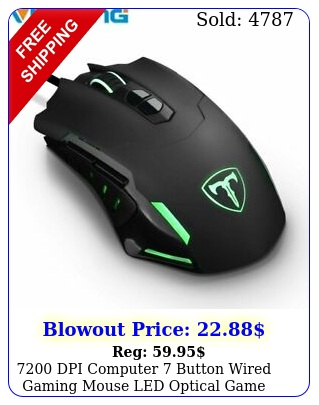 dpi computer button wired gaming mouse led optical game mice pro game