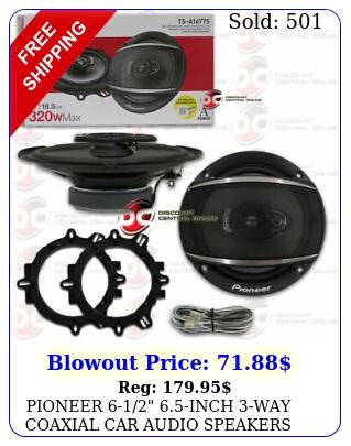 pioneer inch way coaxial car audio speakers pair w ma