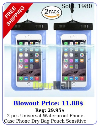 pcs universal waterproof phone case phone dry bag pouch sensitive touch blu