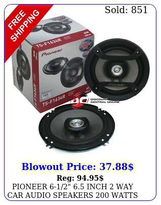 pioneer  inch way car audio speakers watts peak pai