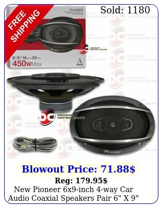 pioneer xinch way car audio coaxial speakers pair x  watt