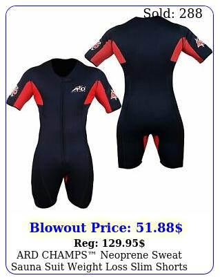 ard champs neoprene sweat sauna suit weight loss slim shorts mma gym boxing mm