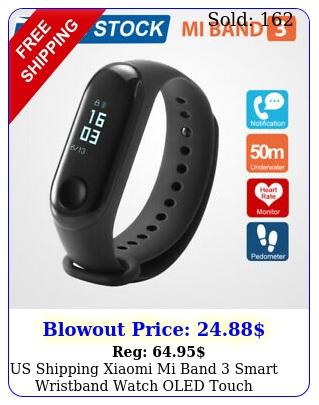 us shipping xiaomi mi band smart wristband watch oled touch screen waterproo