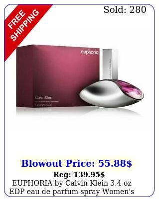 euphoria by calvin klein oz edp eau de parfum spray women's perfume ni