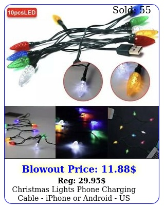 christmas lights phone charging cable iphone or android us selle