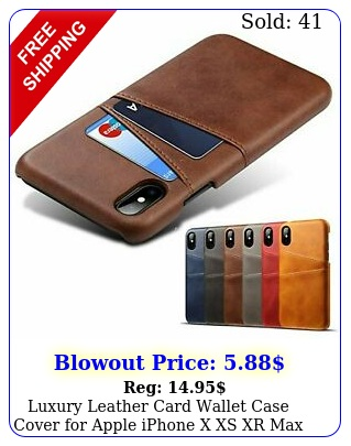 luxury leather card wallet case cover apple iphone x xs xr ma