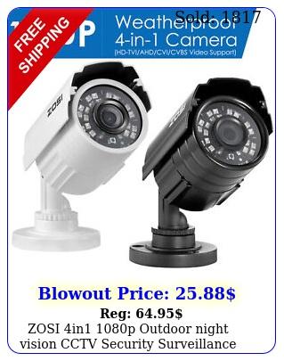 zosi in p outdoor night vision cctv security surveillance camera syste