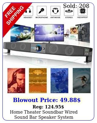 home theater soundbar wired sound bar speaker system subwoofer stereo super bas