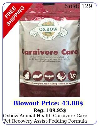 oxbow animal health carnivore care pet recovery assistfedding formula food
