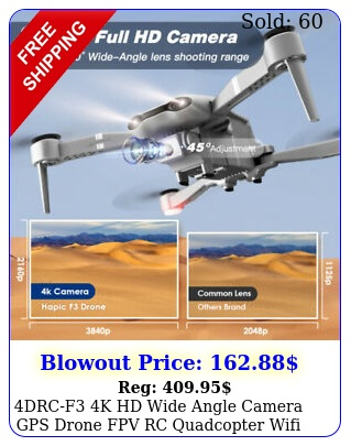 drcf k hd wide angle camera gps drone fpv rc quadcopter wifi follow m