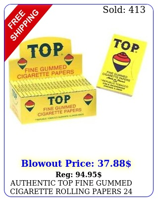 authentic top fine gummed cigarette rolling papers  bookle