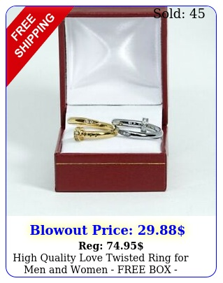 high quality love twisted ring men women free perfect gift
