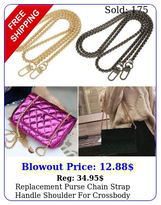 replacement purse chain strap handle shoulder crossbody handbag bag qualit