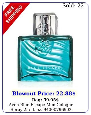 avon blue escape men cologne spray fl o