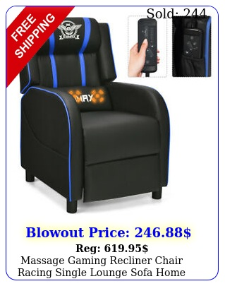 massage gaming recliner chair racing single lounge sofa home theater sea
