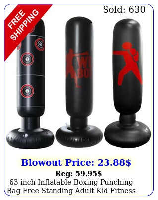 inch inflatable boxing punching bag free standing adult kid fitness trainin