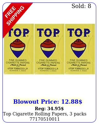 top cigarette rolling papers pack
