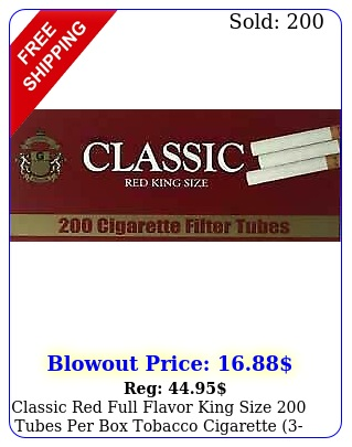classic red full flavor king size tubes tobacco cigarette boxe