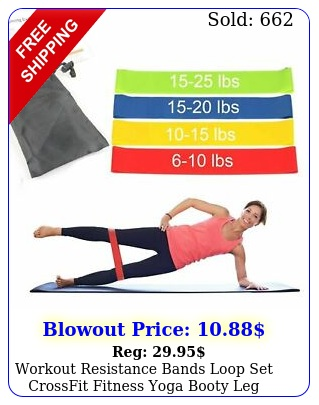 workout resistance bands loop set crossfit fitness yoga booty leg exercise ban