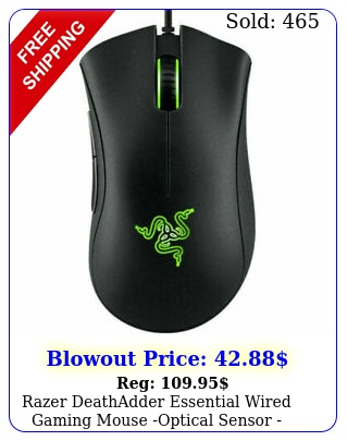 razer deathadder essential wired gaming mouse optical sensor blac