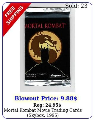 mortal kombat movie trading cards skybox