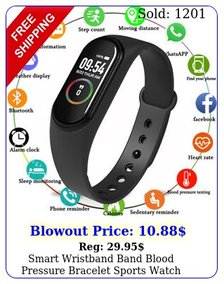 smart wristband band blood pressure bracelet sports watch heart rate tracker
