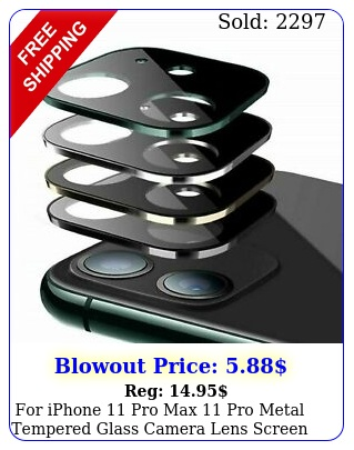 iphone pro max pro metal tempered glass camera lens screen protecto