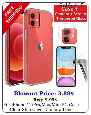 iphone promaxmini g case clear slim cover camera lens screen protecto