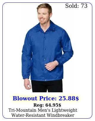 trimountain men's lightweight waterresistant windbreaker coach's jacket sx