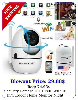 security camera hd p wifi ip inoutdoor home monitor night vision waterproo