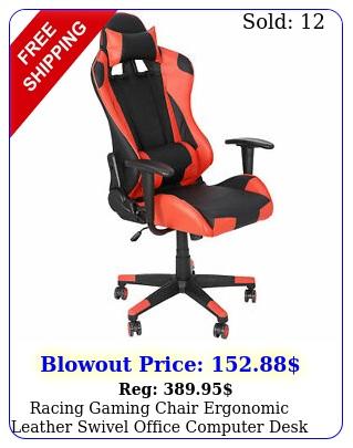 racing gaming chair ergonomic leather swivel office computer desk seat furnitur