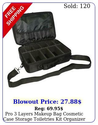 pro layers makeup bag cosmetic case storage toiletries kit organizer oxford u