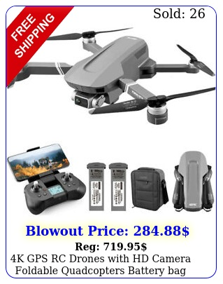 k gps rc drones with hd camera foldable quadcopters battery bag brushless moto