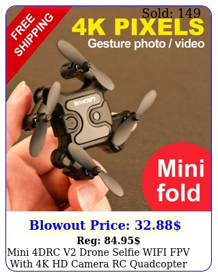 mini drc v drone selfie wifi fpv with k hd camera rc quadcopter toy gift u