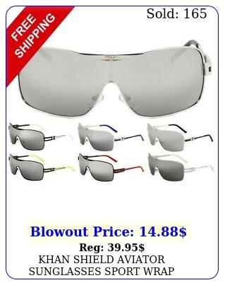 khan shield aviator sunglasses sport wrap around one piece lens retro luxury vt