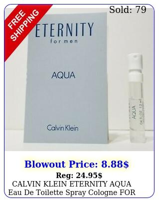 calvin klein eternity aqua eau de toilette spray cologne men ml eac