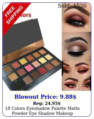 colors eyeshadow palette matte powder eye shadow makeup shimmer pro kit se