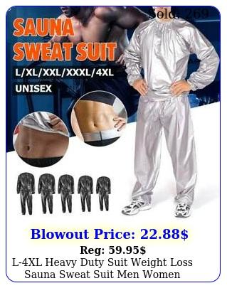 lxl heavy duty suit weight loss sauna sweat suit men women exercise fitnes