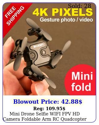 mini drone selfie wifi fpv hd camera foldable arm rc quadcopter ua