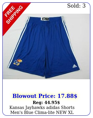 kansas jayhawks adidas shorts men's blue climalite x