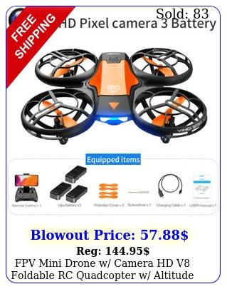 fpv mini drone w camera hd v foldable rc quadcopter w altitude hold wif