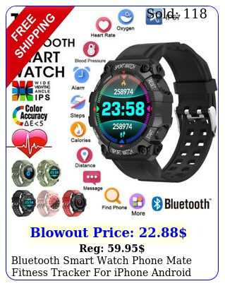 bluetooth smart watch phone mate fitness tracker iphone android waterproo
