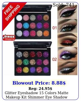glitter eyeshadow colors matte makeup kit shimmer eye shadow powder palett