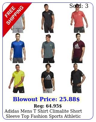 adidas mens t shirt climalite short sleeve top fashion sports athletic tee