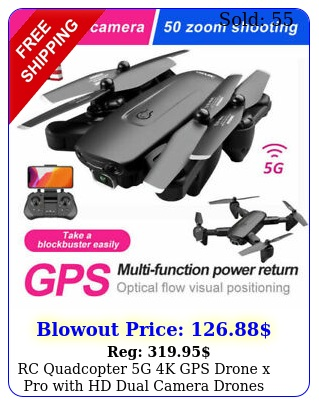 rc quadcopter g k gps drone x pro with hd dual camera drones wifi fpv foldabl