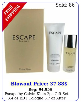 escape by calvin klein pc gift set oz edt cologne  oz after shave bal