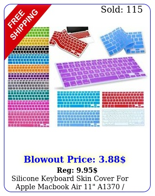 silicone keyboard skin cover apple macbook air  a a model