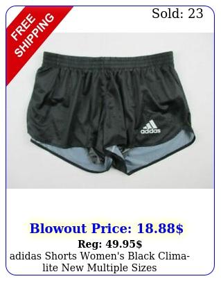 adidas shorts women's black climalite multiple size