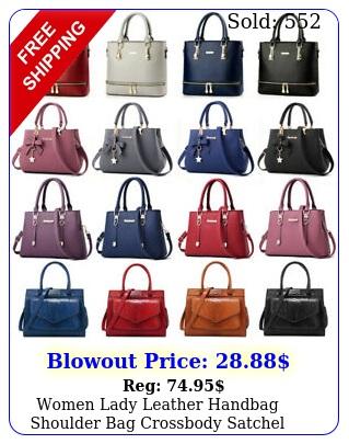 women lady leather handbag shoulder bag crossbody satchel messenger purse tot