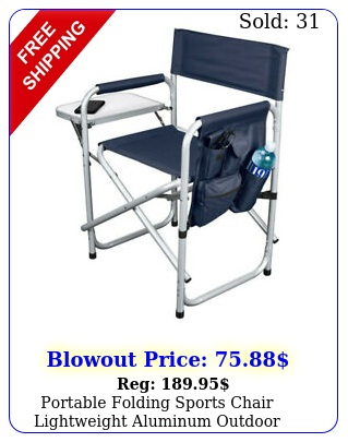 portable folding sports chair lightweight aluminum outdoor picnic blu